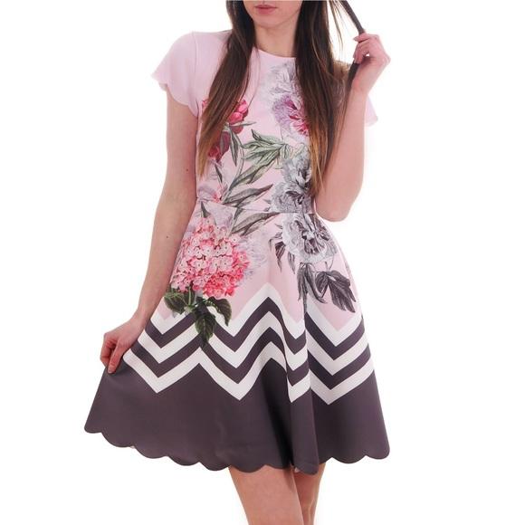 6d913b0c4 Ted Baker Haiilie Ruffle Skirt dress Dusky Pink